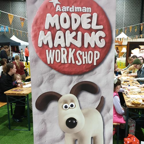 Aardman was running a model making class at CheeseFest in Liverpool.