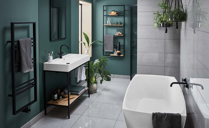 Bathstore has partnered with Elle Decoration for a range of bathrooms.