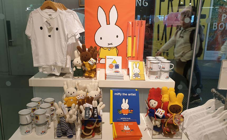 A highlight at Tate Modern was the display of Miffy products.