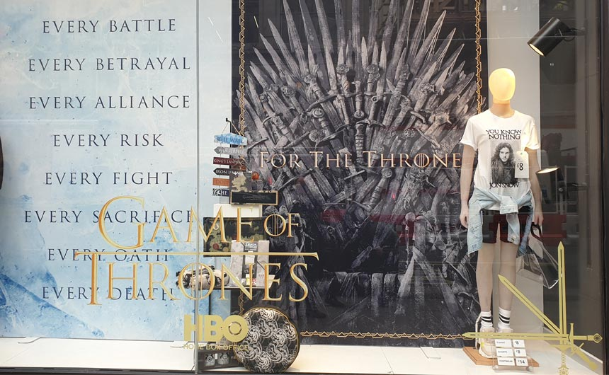 Primark's flagship Oxford Street store placed Game of Thrones in its window.