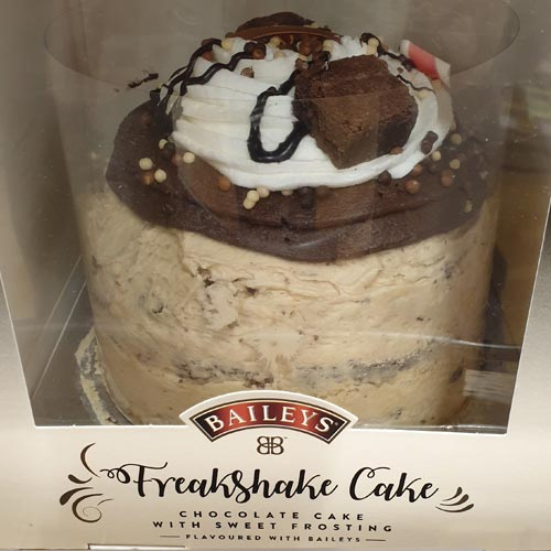 Baileys Freakshake Cake is available in Sainsbury's.