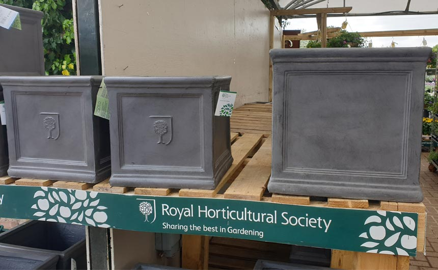 The RHS is also active in garden hardware and accessories.