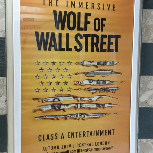 The Immersive Wolf of Wall Street is an example of IP being developed creatively in the live sector.