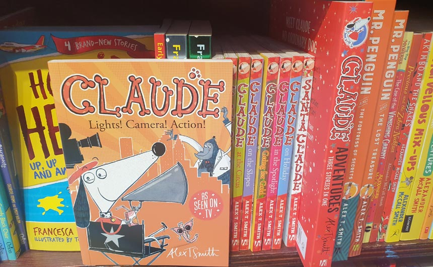 Alex T Smith's Claude had a strong presence including recently published TV tie-ins.