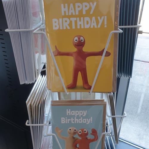 Hype's Morph greeting cards were spotted in Bristol's M Shed gift shop.