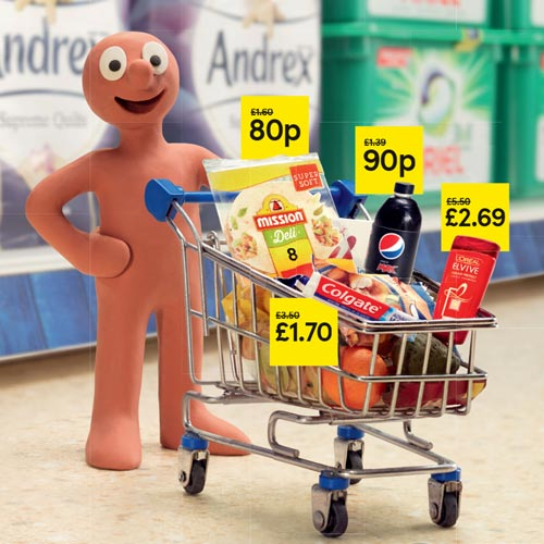 Morph is featuring in a series of TV ads, poster campaigns and print ads for Tesco.