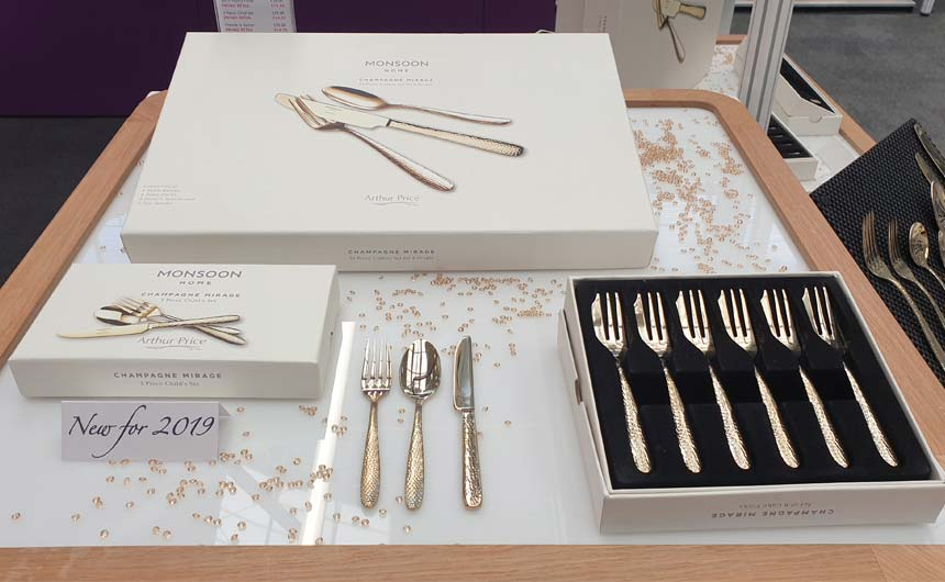 Arthur Price was showcasing a range of Monsoon cutlery under the Monsoon Home brand.