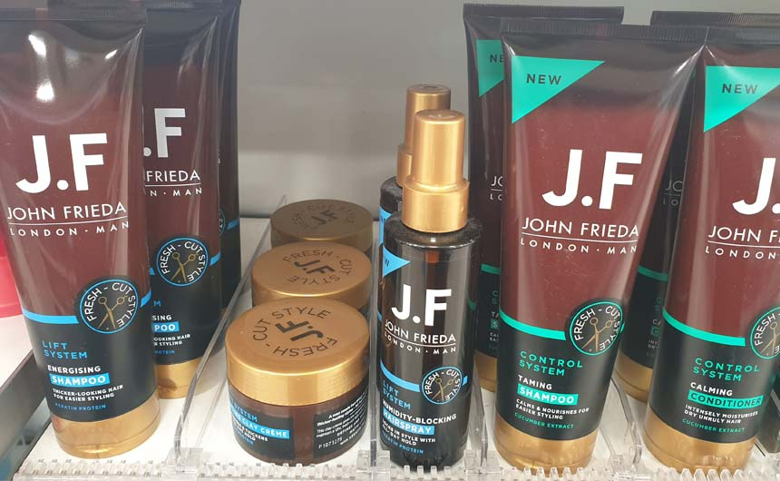 Celebrity hairstylist John Frieda has a comprehensive range of haircare products.