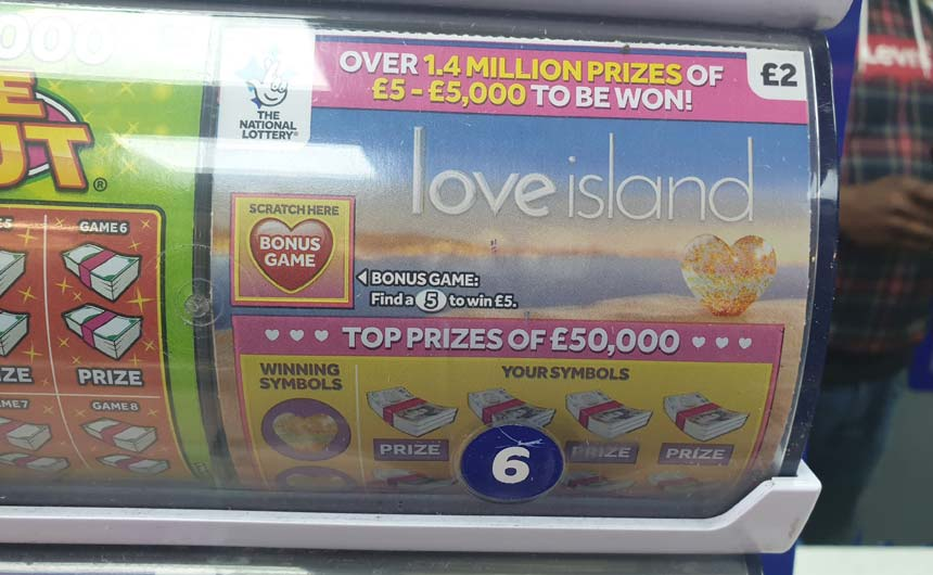 The scratchcard category tends to use licensing sparingly.