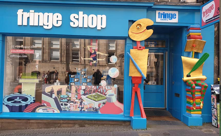 The Edinburgh Fringe Festival has its own store with product from partners including Star Editions.