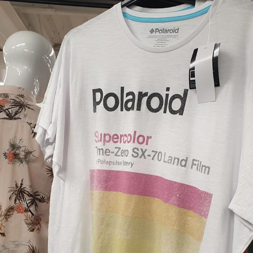 The resurgence of the Polaroid now sees it feature in the fast fashion aisle.