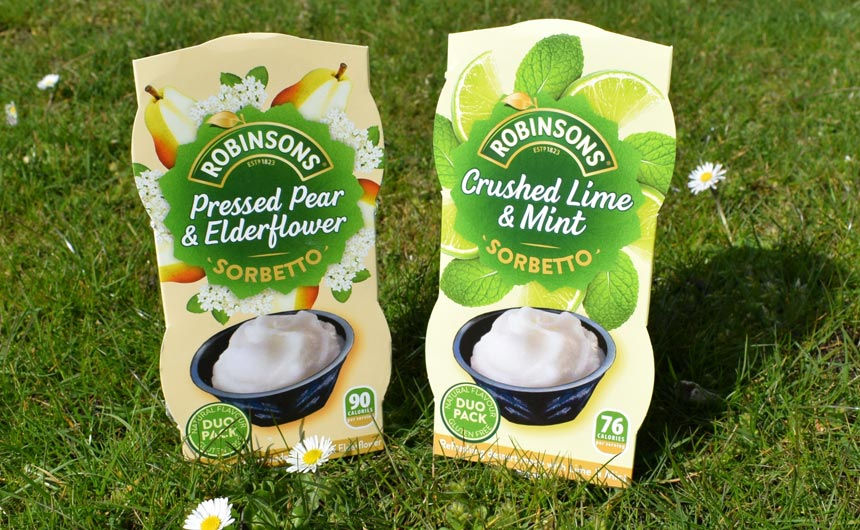Tesco is stocking the new sorbetto flavours from Robinsons this summer.