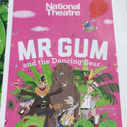 Mr Gum and the Dancing Bear is running at The National Theatre.