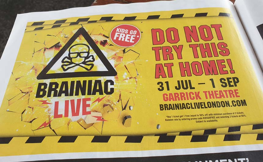 Brainiac Live is based on the now cult classic Sky TV series.