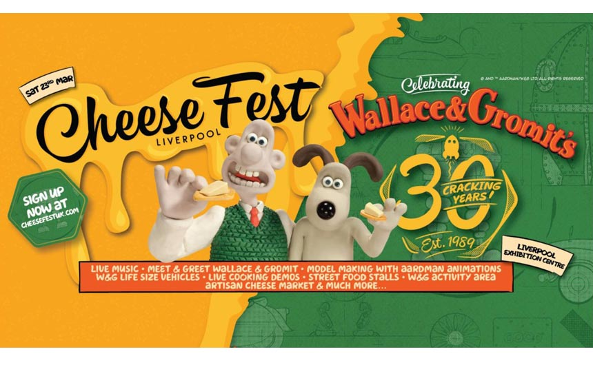 Ian worked with Aardman and its wider family of partners on events such as Cheese Fest.