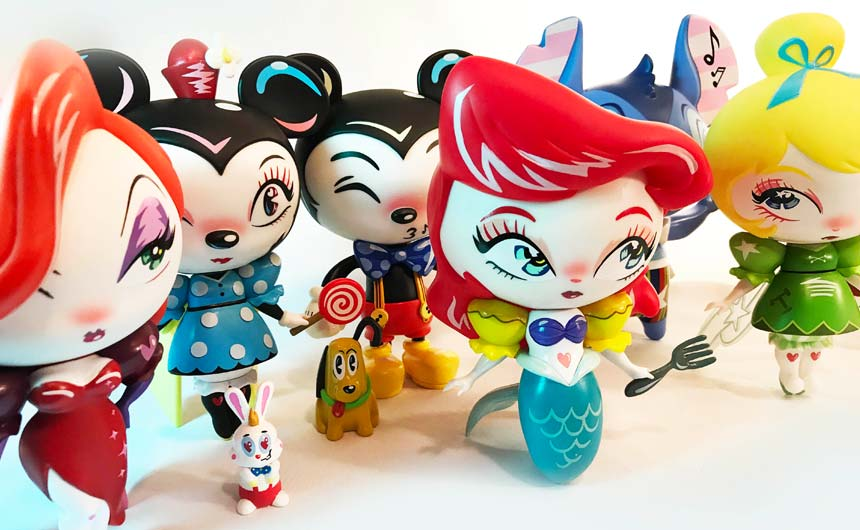 The World of Miss Mindy presents Disney collection features the unmistakable style of the artist.