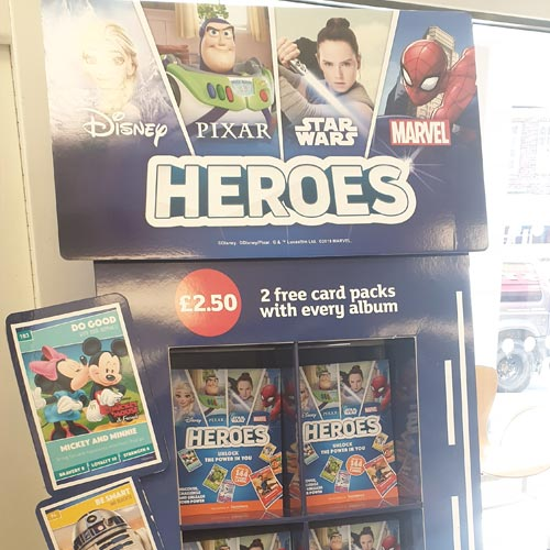 The Sainsbury's and Disney Heroes promotion is very visible in-store.