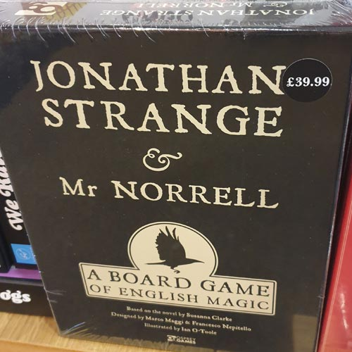 Jonathan Strange & Mr Norrell was just one of the licensed board games in Waterstones Notting Hill.
