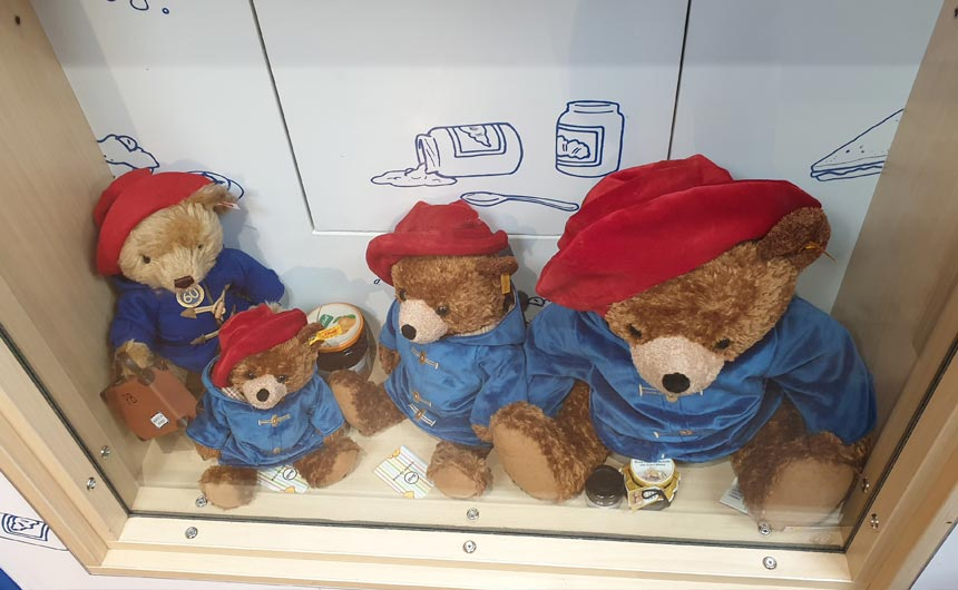 The shop offers a good mix of products from high-end Steiff bears through to souvenir keyrings.
