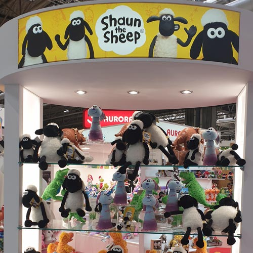 Aurora World was among the licensees showing Shaun the Sheep product.