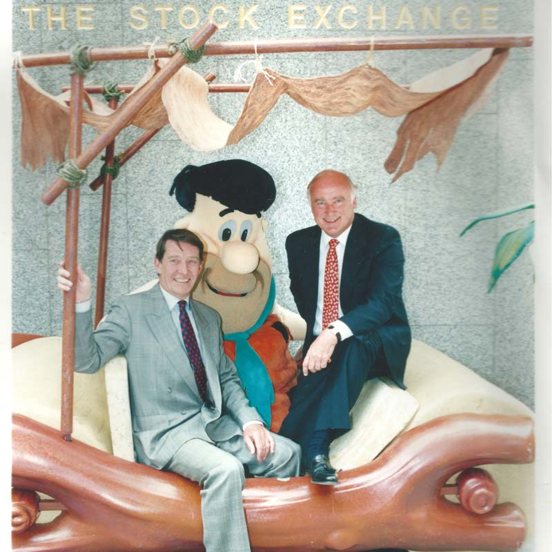 David - pictured with his business partner, Richard Culley - helped shape a sector of the British licensing business.