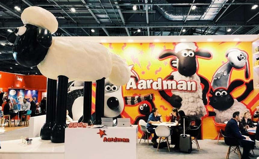 Aardman's giant Shaun the Sheep was a popular choice with visitors for a show selfie.