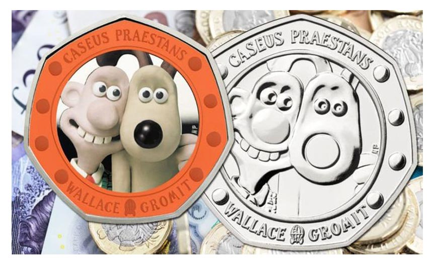 The Royal Mint launched a Wallace & Gromit 50 pence piece this week.
