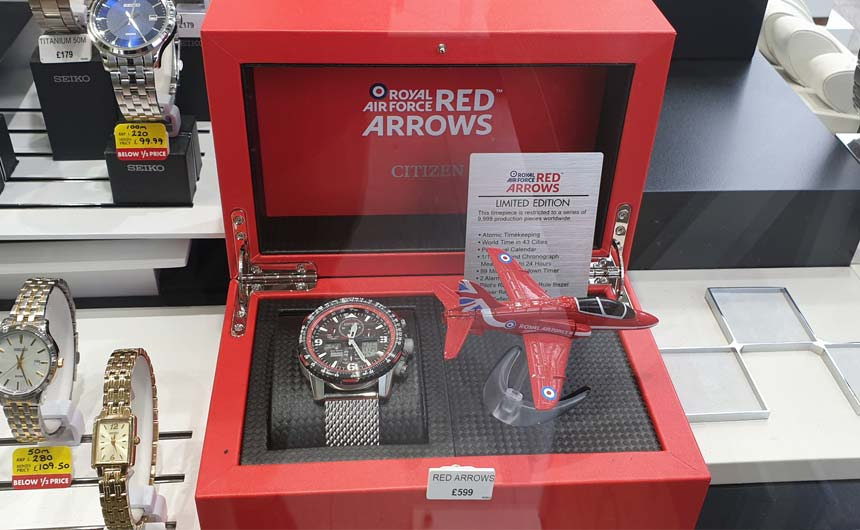 Licensing is increasingly being used in high-end propositions such as this Red Arrows watch from Citizen.
