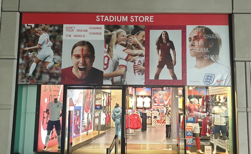The Wembley Stadium Store includes a diverse range of merchandise.