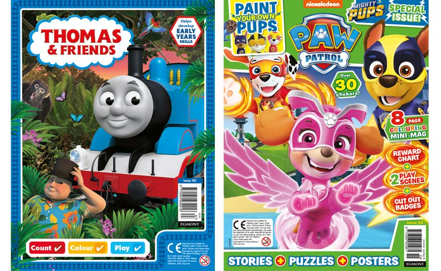 Thomas & Friends and PAW Patrol are staples of Egmont's portfolio.