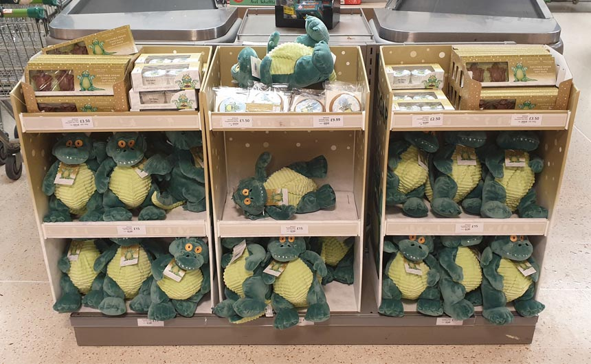 Excitable Edgar merchandise is available in John Lewis and Waitrose stores and online.