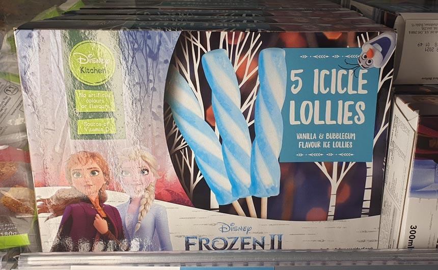 Iceland is also stocking a full range of Frozen... erm, well, frozen products.