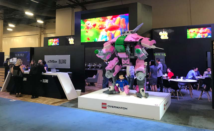 Activision Blizzard Consumer Products' booth at Licensing Expo was a major draw.