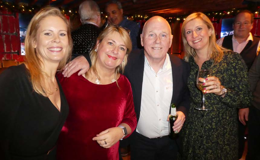 (L-R): Fashion UK's Hannah Miles; LicensingSource editorial director, Jakki Brown; Patrick Bailey from Fashion UK; and Boat Rocker's Caroline High pictured at Patrick's leaving do in December.