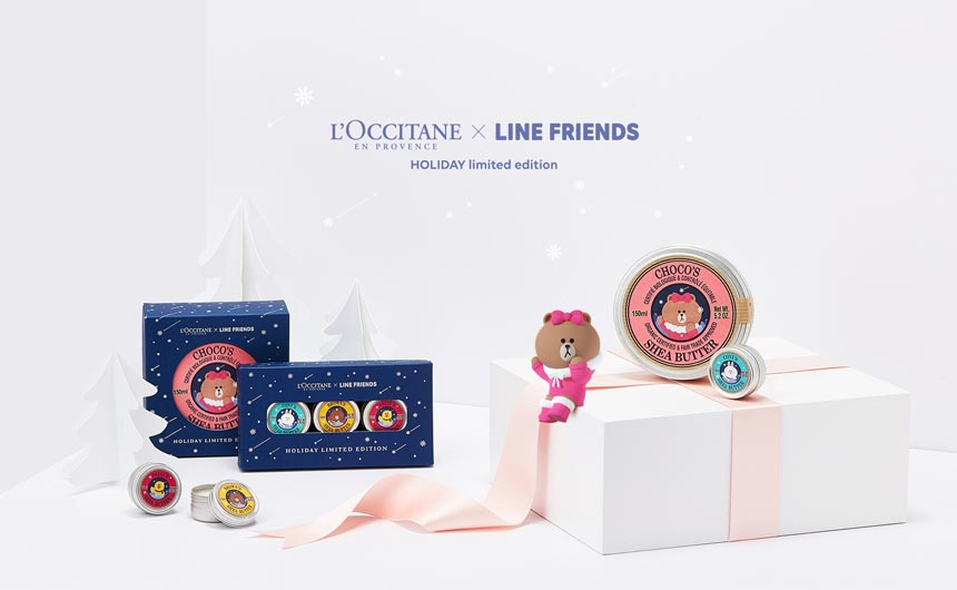 Brown & Friends has collaborated with a number of global brands including L'Occitane.