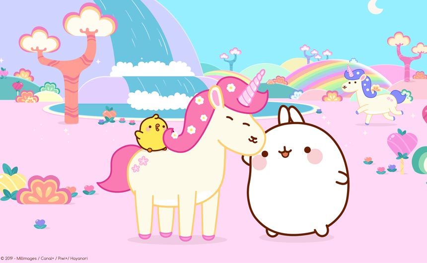 Molang - and his friend Piu Piu - started life in 2011 as a Korean emoticon.