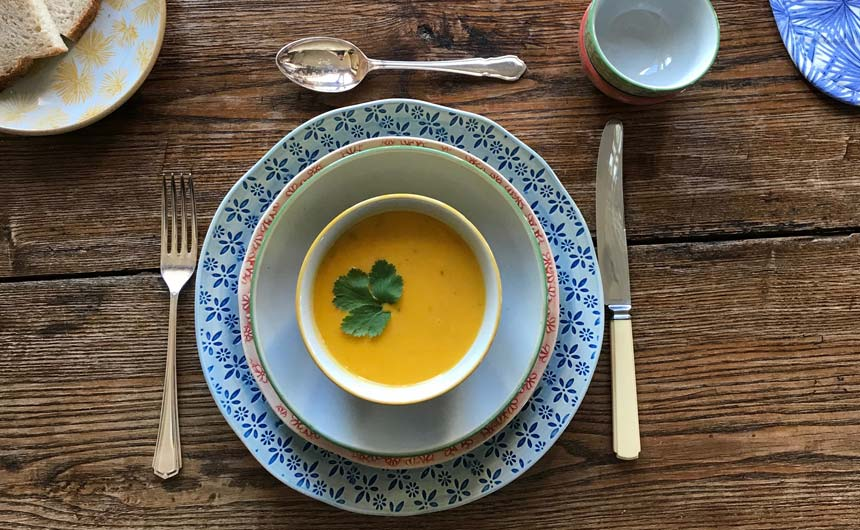 Tableware products in Nadiya's Make Life Colourful collection.