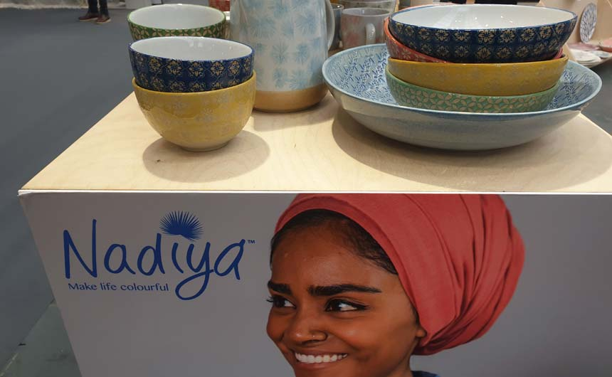 BlissHome launched new lines with Nadiya Hussain at Top Drawer.