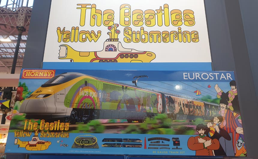 Hornby has developed a number of train sets under The Beatles Yellow Submarine licence.