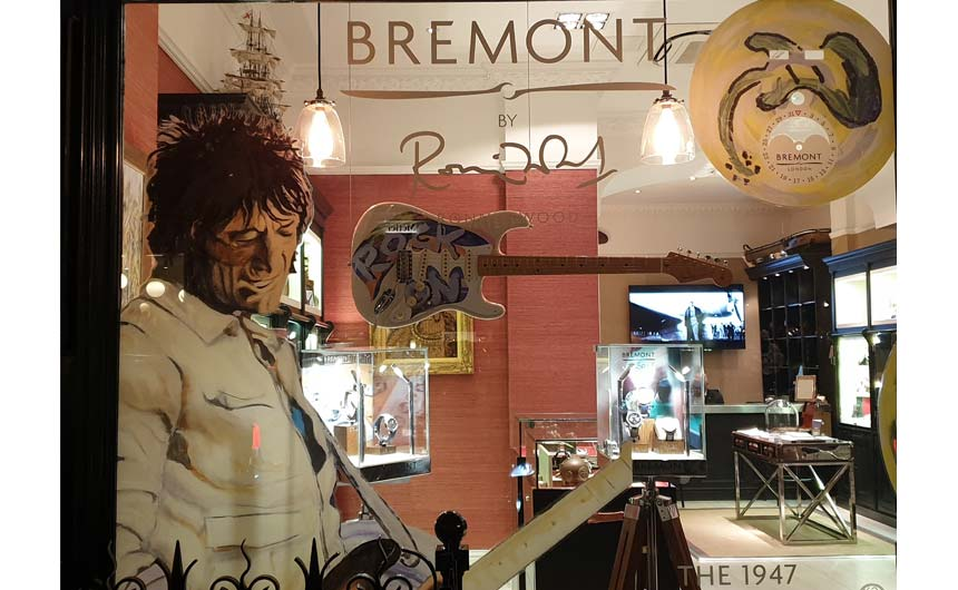 Bremont has created a range of high-end watches using some of Ronnie Wood's art.