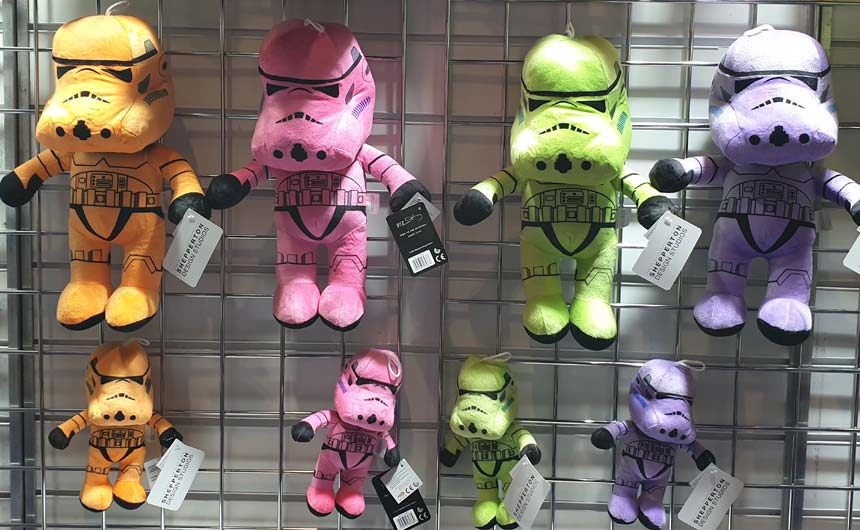 The Original Stormtrooper brand starred as plush on the PMS stand at EAG.