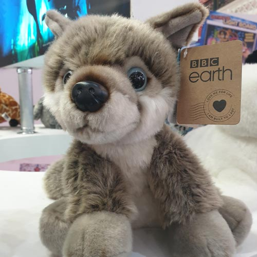 Posh Paws' BBC Earth range is made with a stuffing that is made from recycled plastic bottles and food containers.