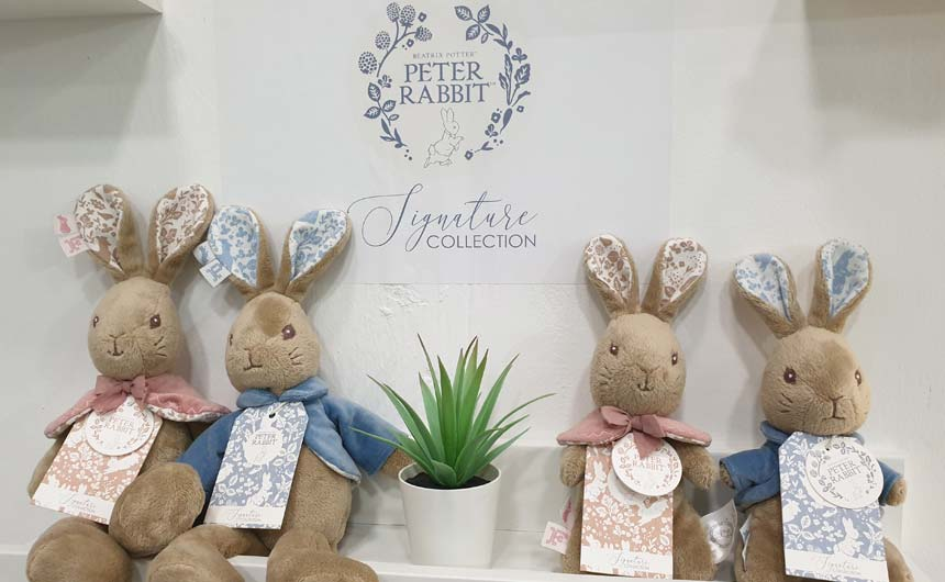 Rainbow Designs introduced a new design option for Peter Rabbit - the Signature Collection.
