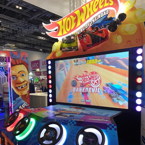 Toy and game brands such as Hot Wheels have been re-imagined in the arcade game sector.