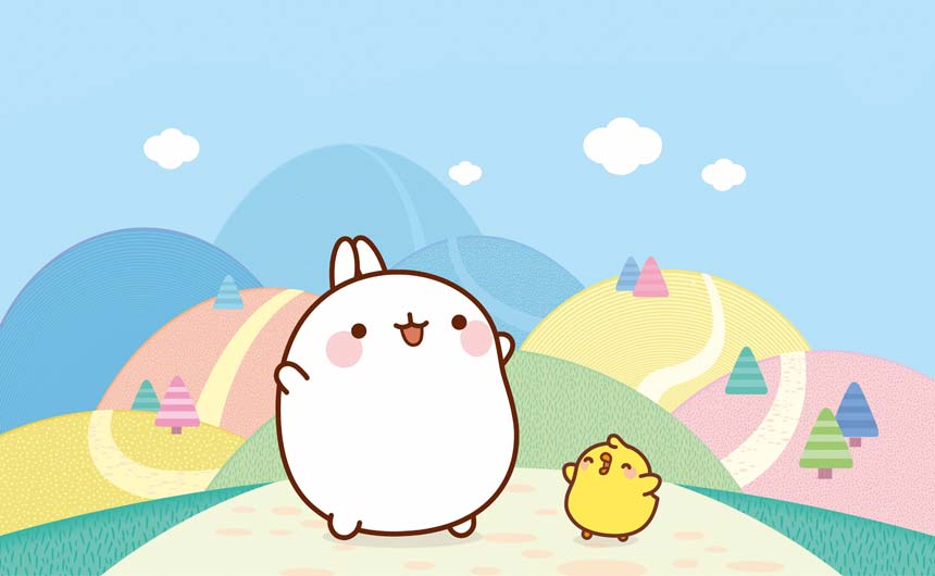 Molang gifs have now been viewed more than six billion times and the brand has over two million fans on social media.