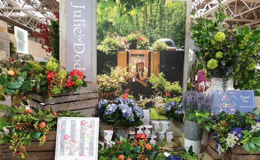 Julie Dodsworth really brought her Spring Fair stand to life.