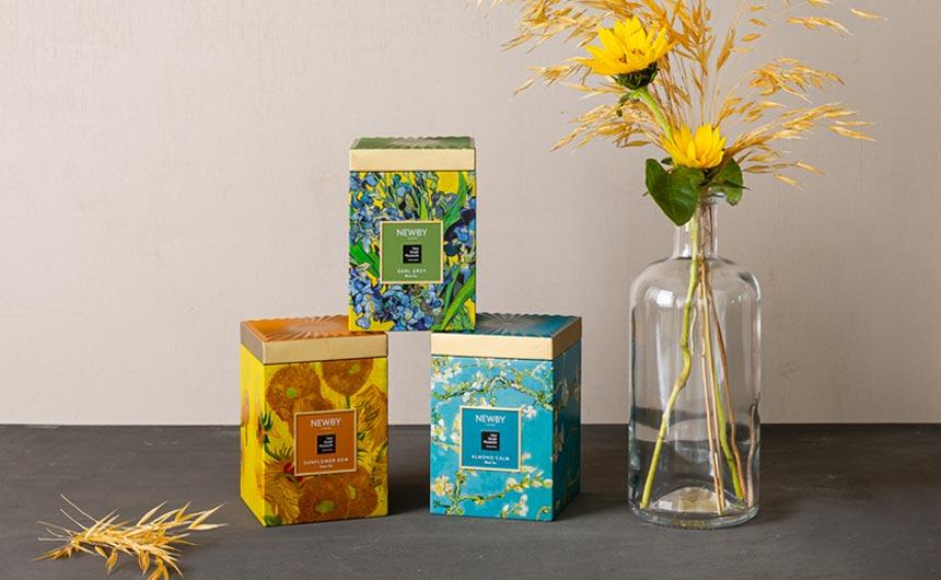 Newby Teas has partnered with The Van Gogh Museum on a trio of teas.