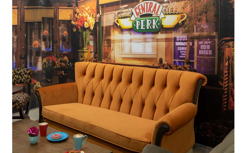 The Friends Central Perk café is in the Manchester store.