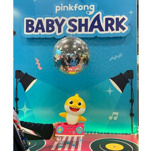 PinkFong's Baby Shark Dancing DJ features dance detection technology.