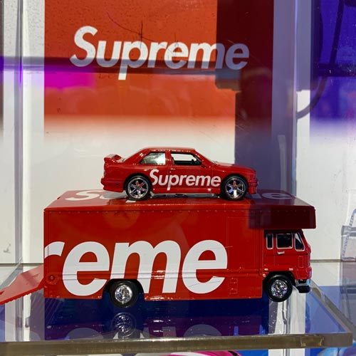 Supreme x Hot Wheels was one of the many co-brands on show.